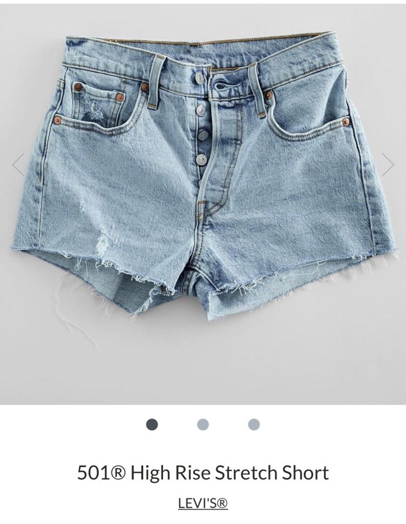 Levi high rise shorts